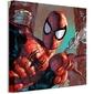 Spider-man web sling close up - obraz na płótnie