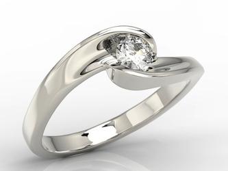 Pierścionek zaręczynowy z białego złota z brylantem model ap-8220b