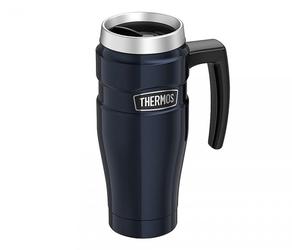 Kubek termiczny thermos travel king 470 ml z rączką granatowy