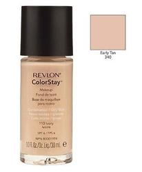 Revlon colorstay makeup combinationoily skin kosmetyki damskie - podkład do twarzy do skóry tłustej i mieszanej 340 early tan 30ml