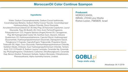 Moroccanoil color continue szampon do włosów farbowanych 250ml