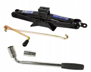 Zestaw podnośnik trapezowy lewarek 1.5t geko + klucz do kół teleskopowy