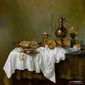 martwa natura z krabem -  willem heda ; obraz - reprodukcja