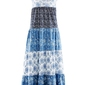 Długa sukienka bawełniana z dżerseju bonprix indygo z nadrukiem