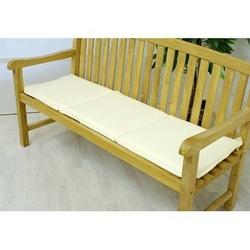 Poduszka trzyosobowa do ławki ogrodowej, kremowa