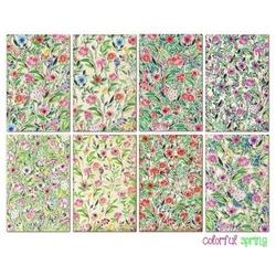 Zestaw papierów MINI 24 szt. - Colorful spring - COSP