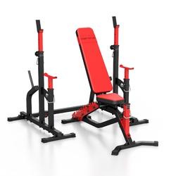 Zestaw ms2 | ławka dwustronna + stojaki regulowane - marbo sport - brak