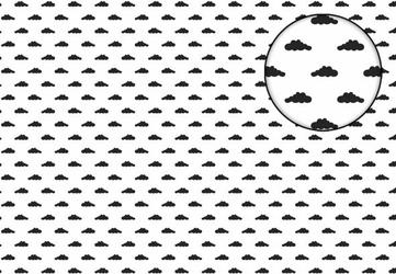 Czarne chmurki - fototapeta