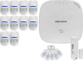 Za12671 bezprzewodowy system alarmowy gsm 4g 10 czujek ruchu hikvision ds-pwa32-nst