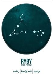 Znak zodiaku, ryby - plakat wymiar do wyboru: 42x59,4 cm