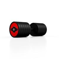 Hantla stalowa gumowana 47,5 kg czerwony połysk - marbo sport