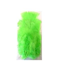 Dekoracyjne piórka - zielony jasny - zieljas