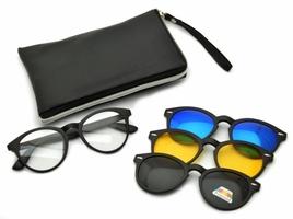 Oprawki okulary zerówki w zestawie z trzema nakładkami na magnes tr2205