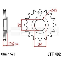 Zębatka przednia jt f402-15, 15z, rozmiar 520 2200528 bmw f 650 650