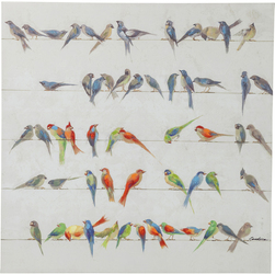 KARE Design :: Obraz Birds Meeting 100x100cm