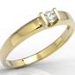 Pierścionek zaręczynowy z żółtego złota z brylantem jp-9812z