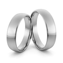Obrączki ślubne platynowe klasyczne zaokrąglone 5 mm - pt-8