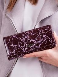 Skórzany portfel damski fioletowy lorenti 72401 - fioletowy