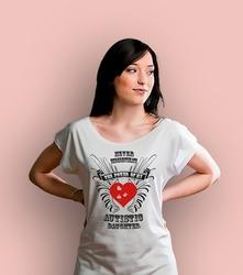 Autistic daughter t-shirt damski biały s