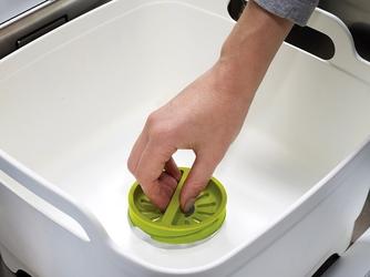 Miska z odpływem wash and drain joseph joseph zielona 85059