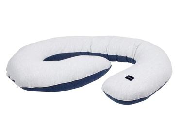 Poofi poduszka dla kobiet w ciąży szaro-granatowa
