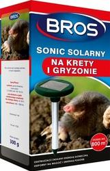 Bros Sonic Solarny, elektroniczne urządzenie odstraszające krety, zasięg 800m, 1 sztuka