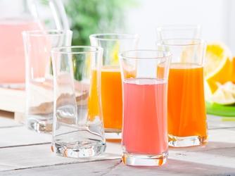 Szklanki do napojów altom design geo long drink 360 ml, komplet 6 szklanek