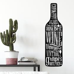 Naklejka na ścianę - stylish wine ,  -