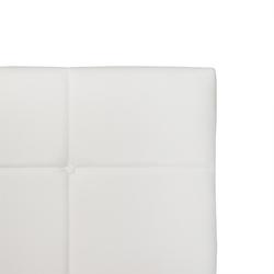 Łóżko tapicerowane allana 180x200 cm białe ekoskóra