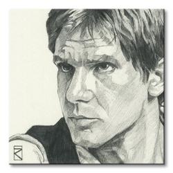 Star wars han solo sketch - obraz na płótnie