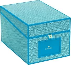 Pudełko na zdjęcia i płyty cd seigaiha turkusowe