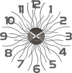 Zegar silk antracytowy lavvu sun lct1242-0 średnica 49 cm