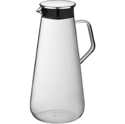 Dzbanek szklany z uchem i stalową pokrywką Fontana Kela 1,5 Litra KE-12418