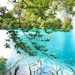 Naklejka samoprzylepna jezioro turkusowe chorwacja