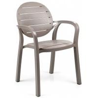 Krzesło ogrodowe nardi palma tortora jasnobrązowe