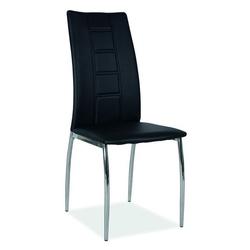 Krzesło do jadalni toska czarne ekoskóra