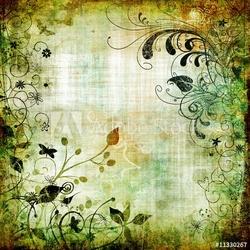 Obraz na płótnie canvas czteroczęściowy tetraptyk wzór kwiatowy papieru