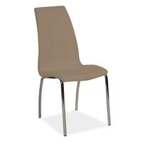 Krzesło do kuchni Hampton beżowe ekoskóra