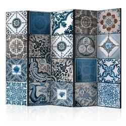 Parawan 5-częściowy - niebieska arabeska room dividers