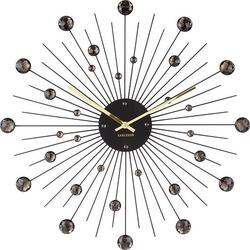 Zegar ścienny sunburst xl czarny