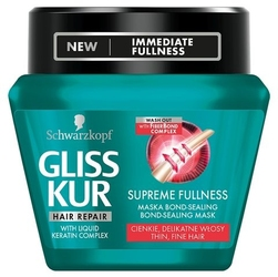 Giss kur, supreme fullness, maska do włosów w słoiku, 300 ml