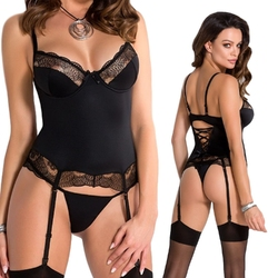Alina corset black : rozmiar - sm