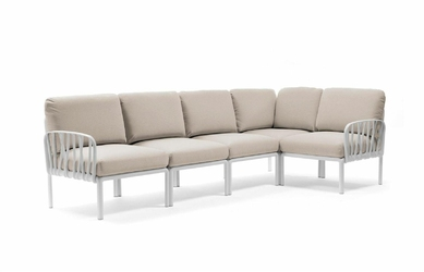 Sofa komodo5 biała beżowa - beżowy
