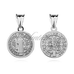 Srebrny medalik pr.925 święty benedykt - rodowanie