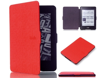 Etui alogy smart case do kindle paperwhite 123 czerwone - czerwony