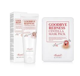 Benton zestaw promocyjny goodbye redness centella gel + goodbye redness centella mask pack