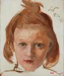 głowa dziewczynki - stanisław wyspiański ; obraz - reprodukcja