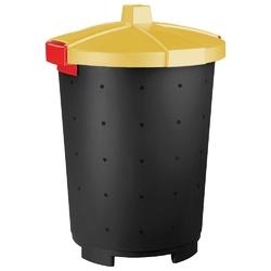 Kosz na śmieci keeeper mattis 45 l żółty