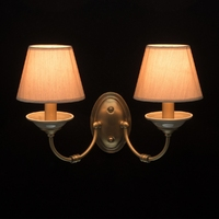 Dwuramienny kinkiet z szarymi kloszami mw-light classic 713020502