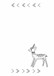 Tablica magnetyczna suchościeralna dla dzieci jelonek 441
